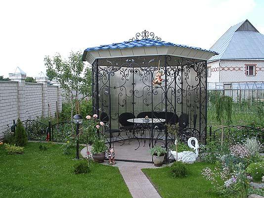 Ковка садовых беседок
