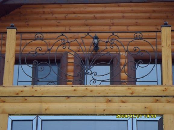 Ограждение для террасы и балкона с ковкой модель 145 , цена .