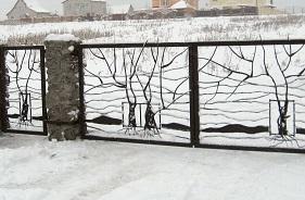 Ковка оград для могил