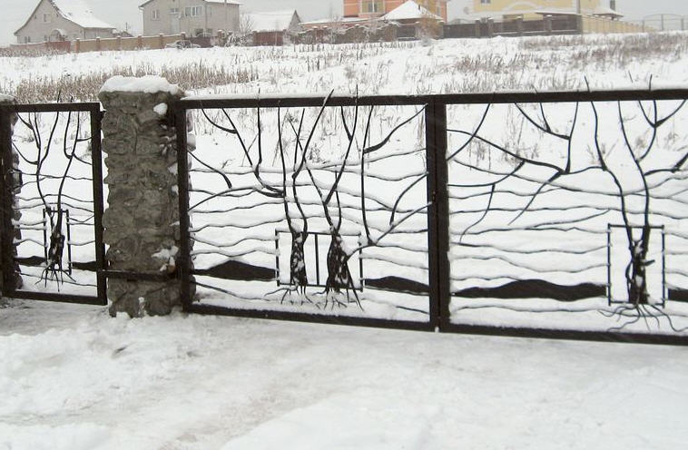 ковка ограды фото